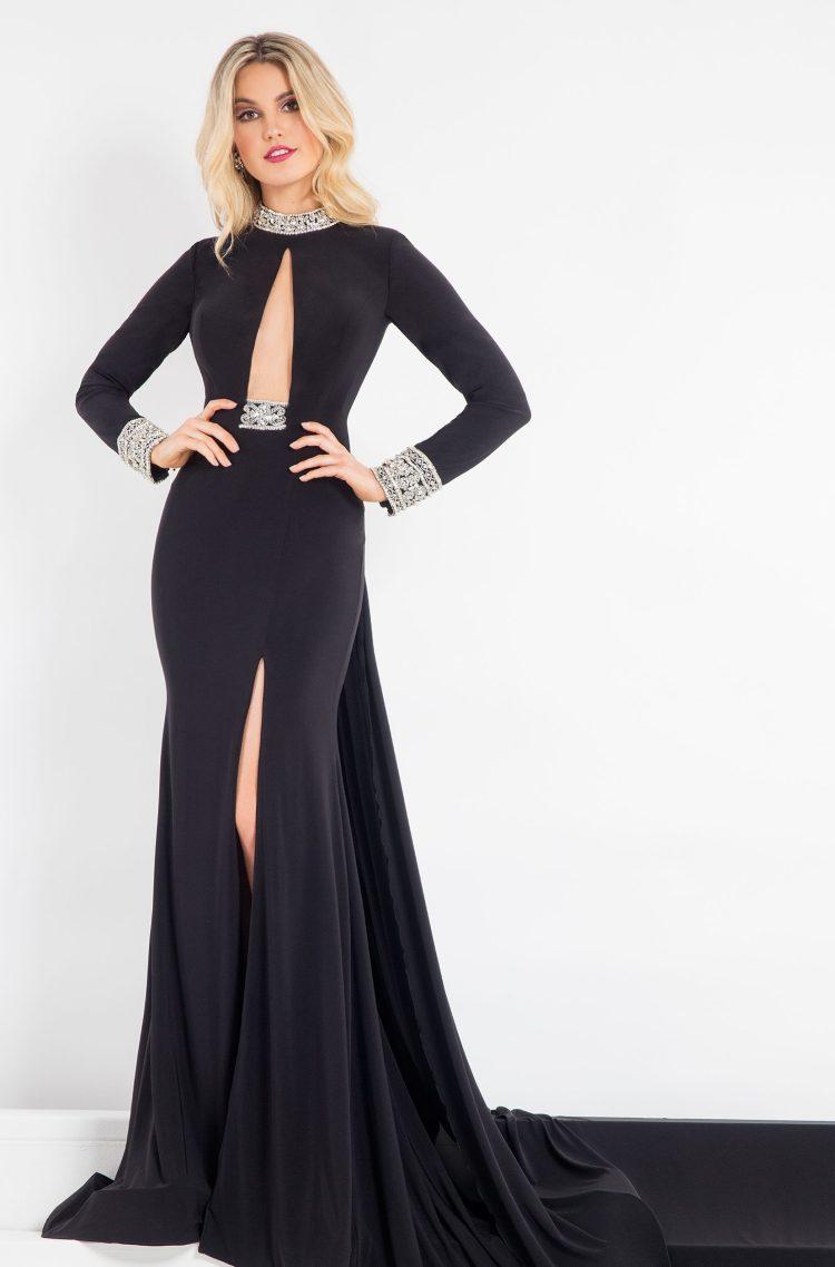Deep plunge Rachel Allan Prima Donna Gown