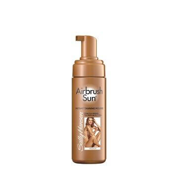 SALLY HANSEN AIRBRUSH SUN® TANNING MOUSSE CREATES THE ULTIMATE SUNKISSED LOOK