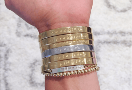 Custom Hand Stamped Skinny Cuff from Ravishing Jewelry