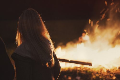 sitting-near-fire-Aging Your Skin