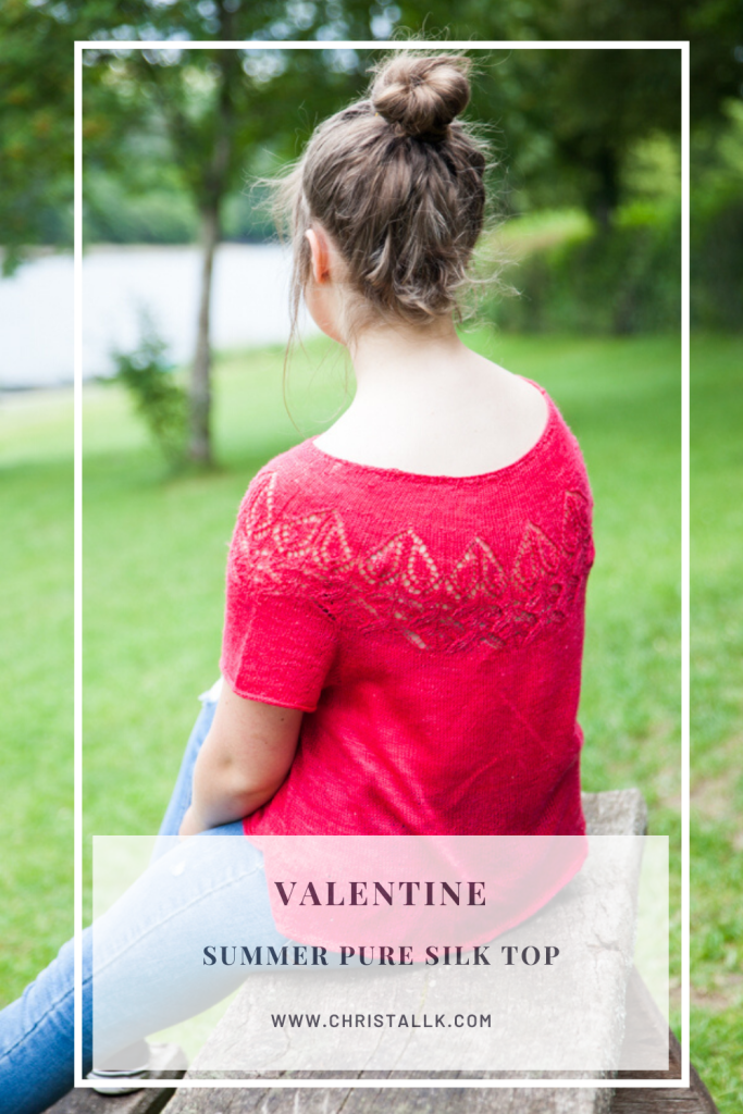 Valentine, a pure silk summer top - a back view