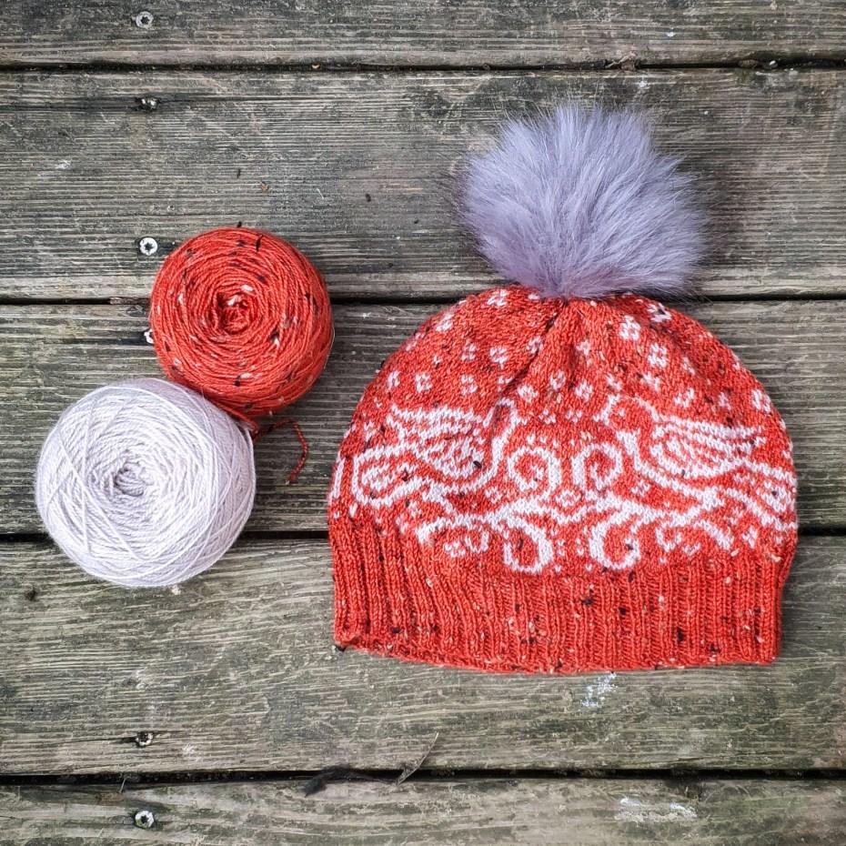 Snow Doves, un bonnet en jacquard