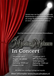 MusicalMakers In Concert Poster door Christan Online