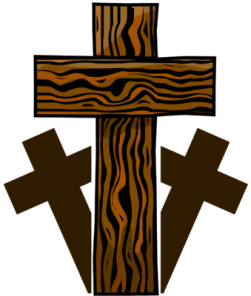 3 Wooden Crosses