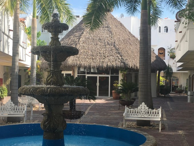 Our palapa roofed worship space at the Plaza Genovesa in Puerto Vallarta, right next to Office Depot.