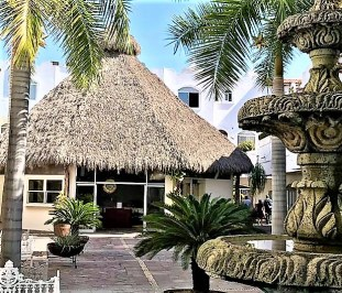 Our palapa at Plaza Genovesa