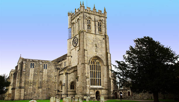 Christchurch Priory in Dorset, England