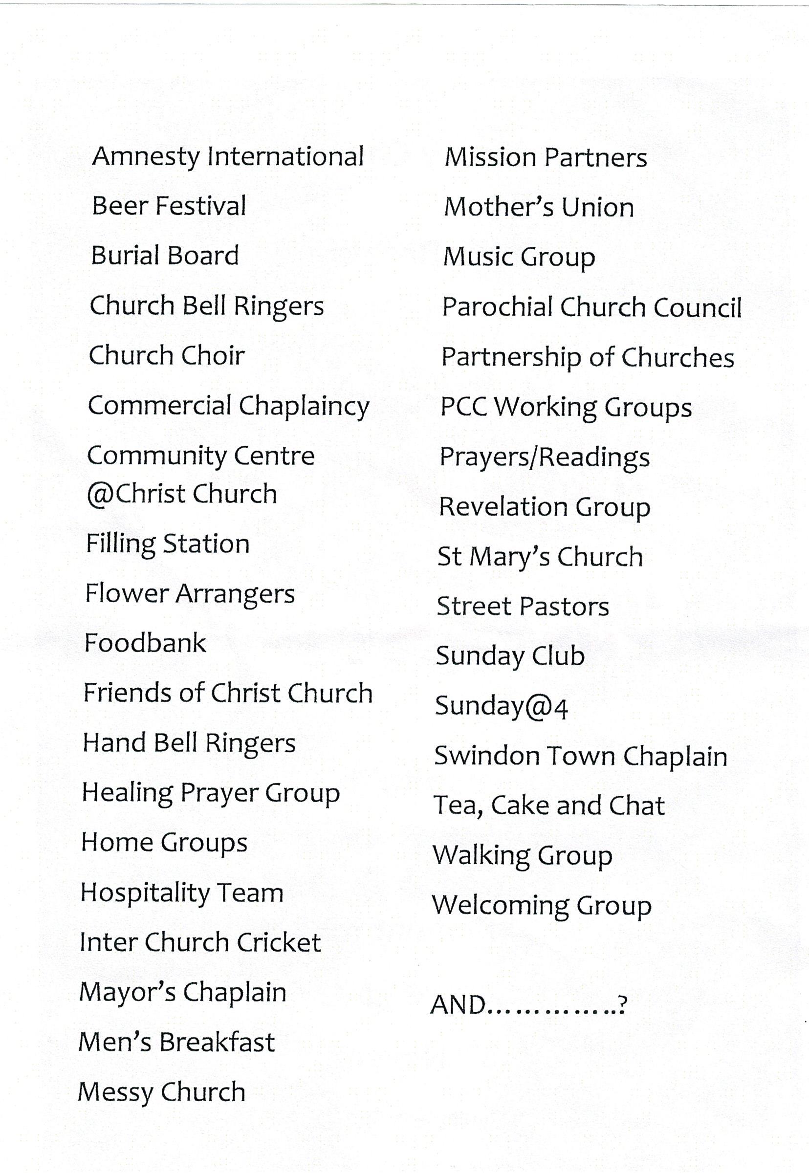 Big Church Sunday 26th November Christ Church News