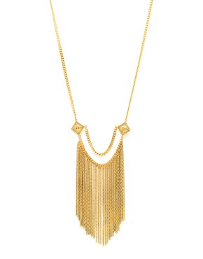 Gloria : Long necklace  chains gilded with fine gold