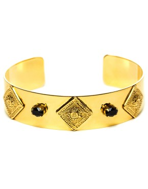 Théodora : Ring gilded with fine gold and swarovski gemstones
