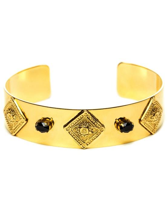 Bracelet doré à l'or avec pierres Swarovski Théodora