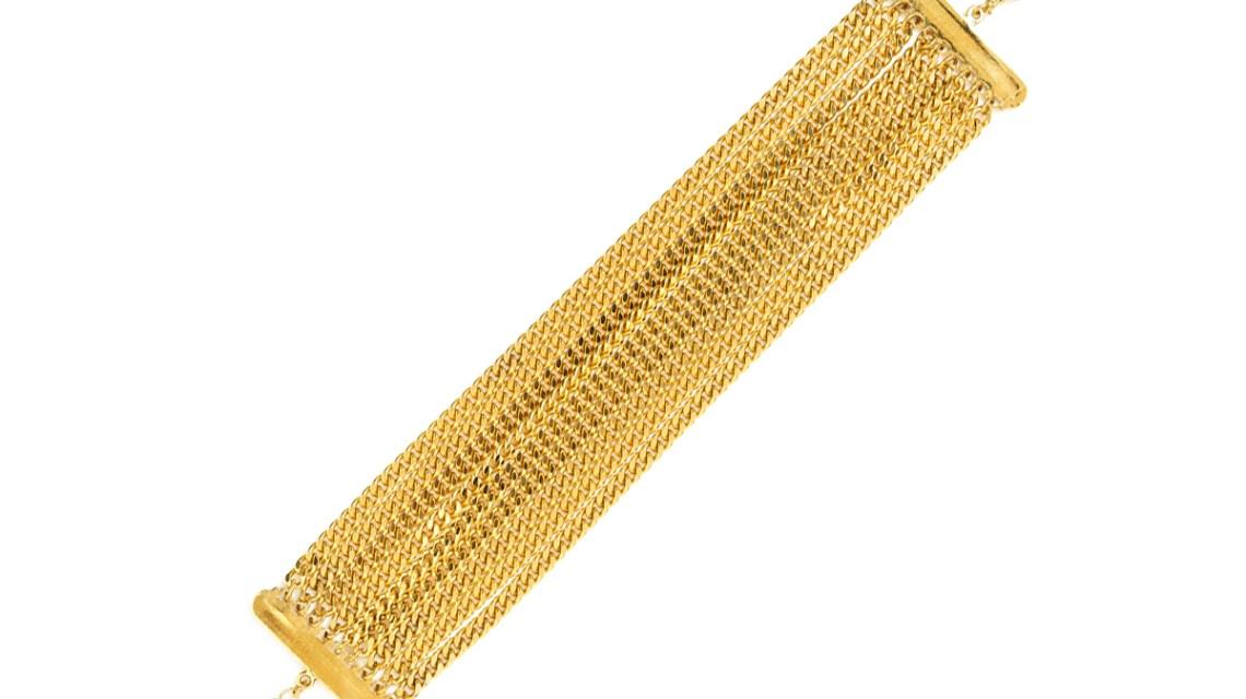 Bracelet multi chaines doré à l'or Zoé