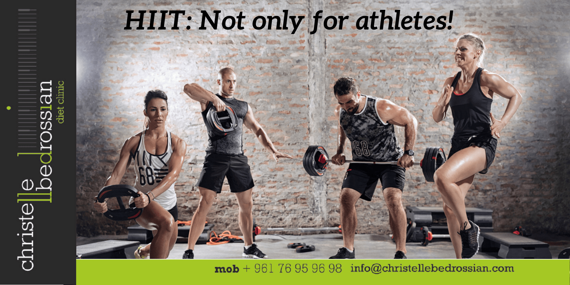 best dietitian lebanon, lebanon, health, training, workout, high intensity, hiit