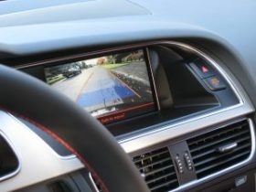 Backup camera in a new vehicle