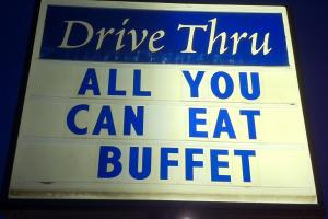 All you can eat buffet sign