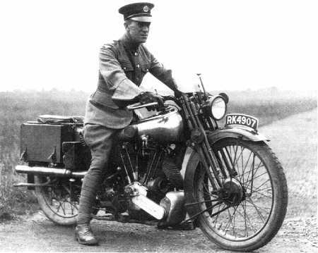 T.E. Lawrence on Motorcycle