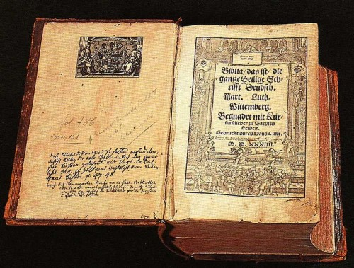 Martin Luther Bible in the Lutherhaus in Wittenberg