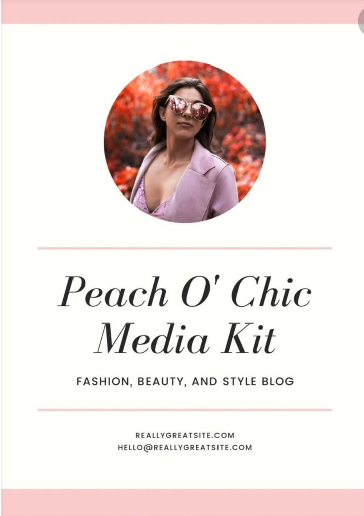 Free media kit templates