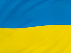 Blue and yellow flag of Ukraine