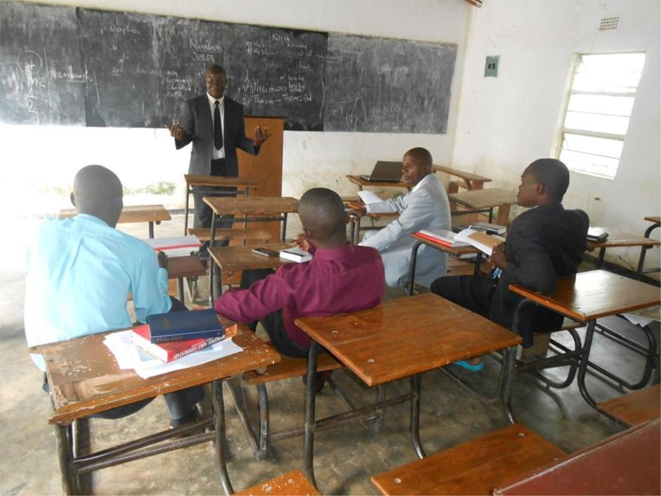 Pastors in a classroom