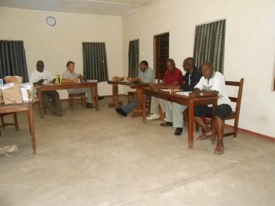 Men sitting at desks