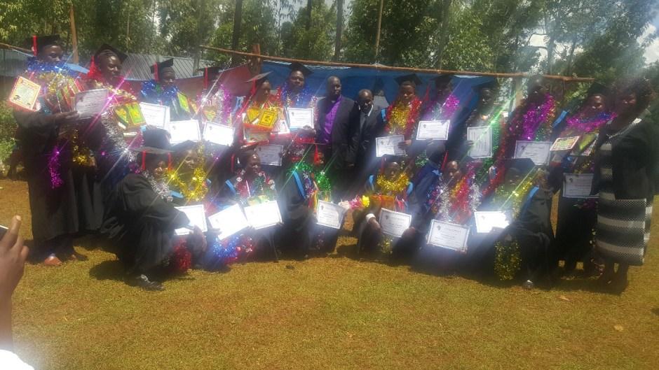 Kenyan Christians with certificates