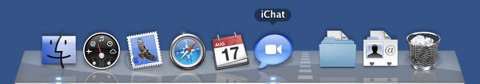 Dock with iChat