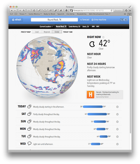 forecast.io_main_screen