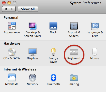 System Preferences on Mac