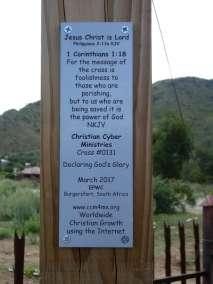 Plaque Declaring God's Glory over Burgersfort