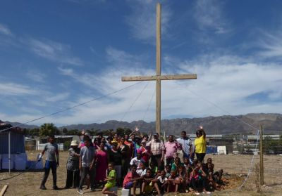 """Strand Renewal Ministries Congregation """"Giving God Glory"""" over South Africa as they celebrate the Cross"""
