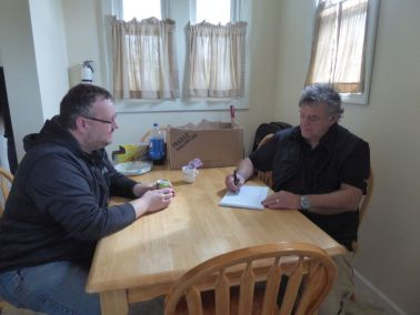 Pastor Bill interviewing Brandon