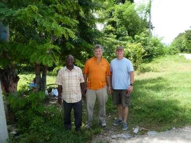 Pastor Lesly, Pastor Bill, Jim Teal
