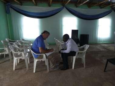 Pastor Bill interviewing Pastor Godfrey