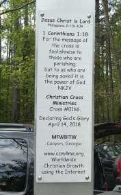 Plaque Declaring God's Glory over Georgia