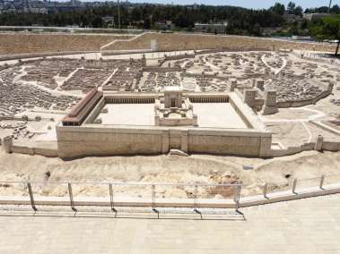 Scale model of Second Temple period