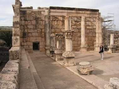 Temple in Capernaum where Jesus Taught