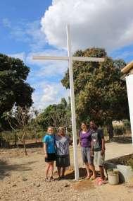 Haiti Team L-R Grace Teal, Madame Val, Stephanie Teal, Jhanson Haiti Guide