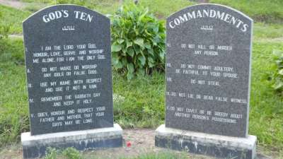 Ten Commandments On Display