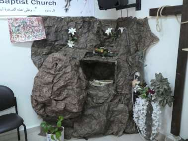 Church Children Prepared Tomb with Stone Cut of Paper and Paint