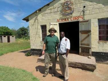 Pastor Bill and Pastor Majomeka Misheck encouraging the Cross process