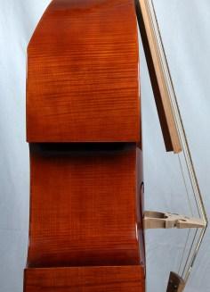 Wiener Bass nach Stadlmann, Seitenansicht/ viennese bass, copy of J. J. Stadlmann