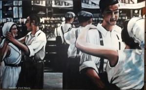 Une peinture représentant des gens qui dansent