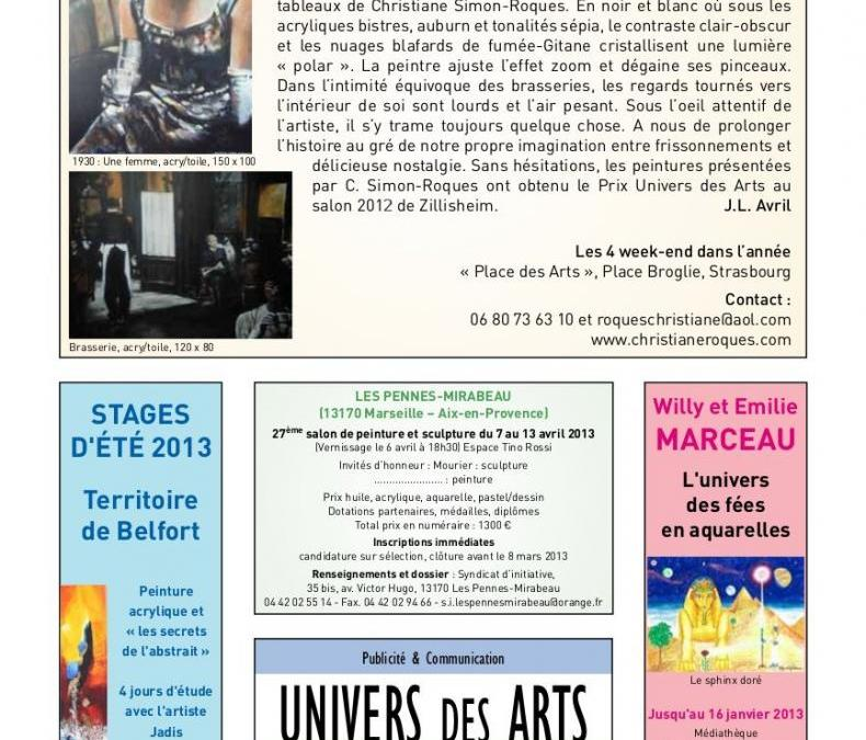 Article « Catalogue Univers des Arts »