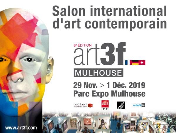 une affiche pour le salon art 3F de Mulhouse