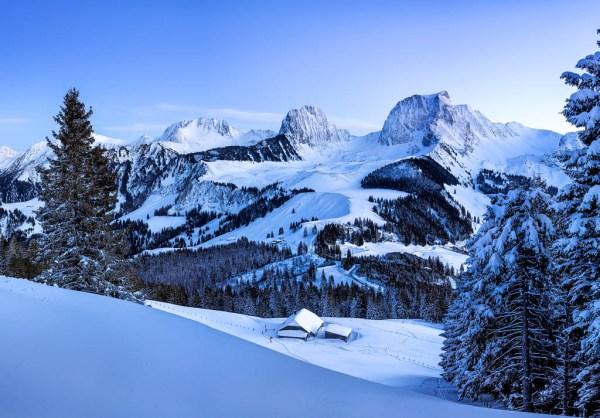 Winterlandschaft im Naturpark Gantrisch
