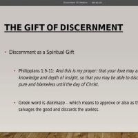 The Gift of Discernment Part 2