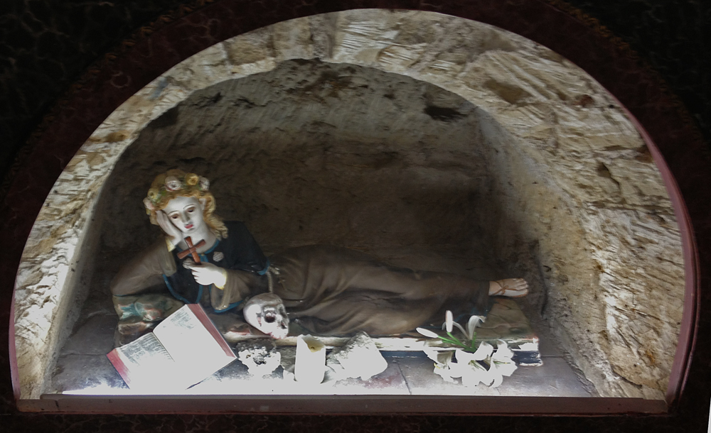 St Rosalia As A Hermit In Her Cave Sculpture