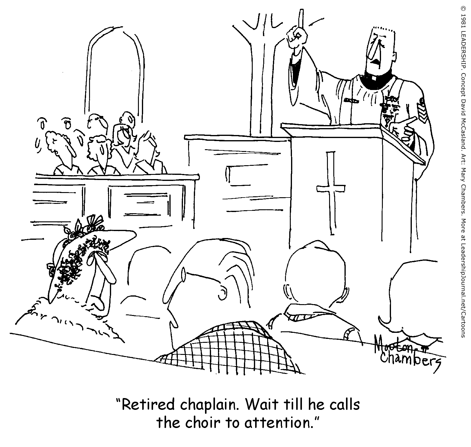 Military Chaplain In The Pulpit