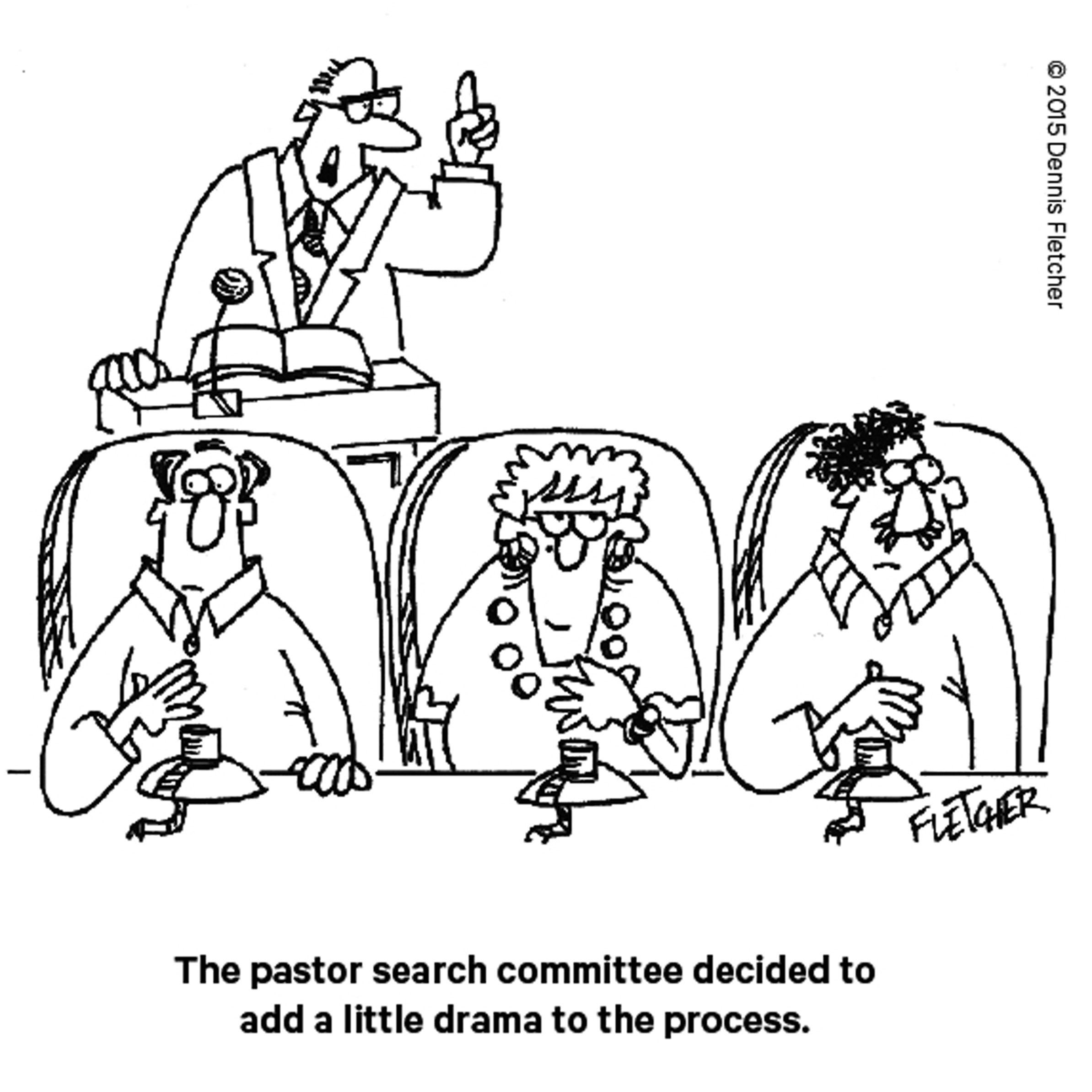 Suspenseful Pastor Search